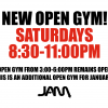 NEW SATURDAY NIGHT OPEN GYMS