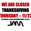 CLOSED FOR THANKSGIVING!