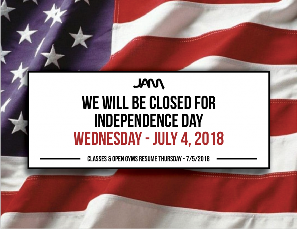 JAM4thofJulyCLOSED