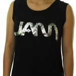 Jam Female Metallic Tee Black (small)